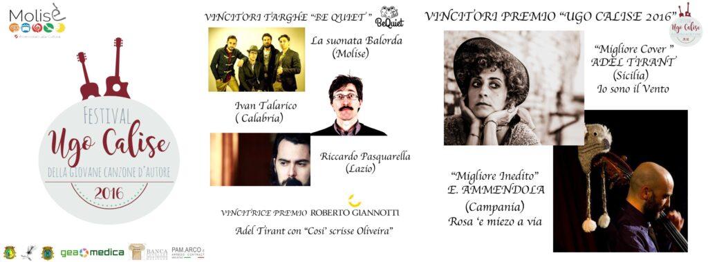 Tutti i Vincitori Dell'Ugo Calise Festival