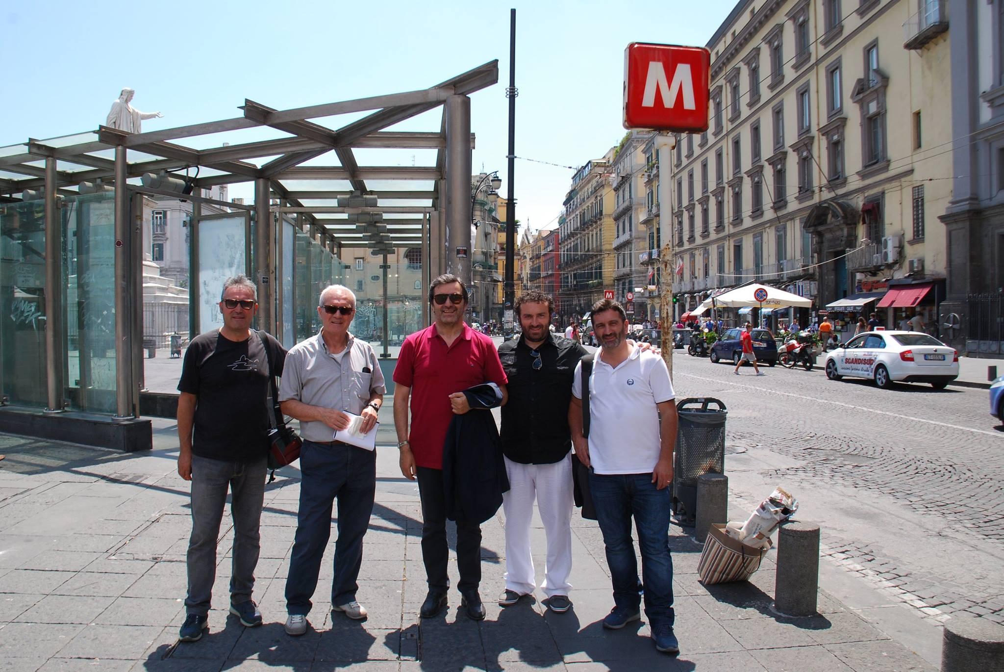 Delegazione dell'associazione Giovannitti a Napoli