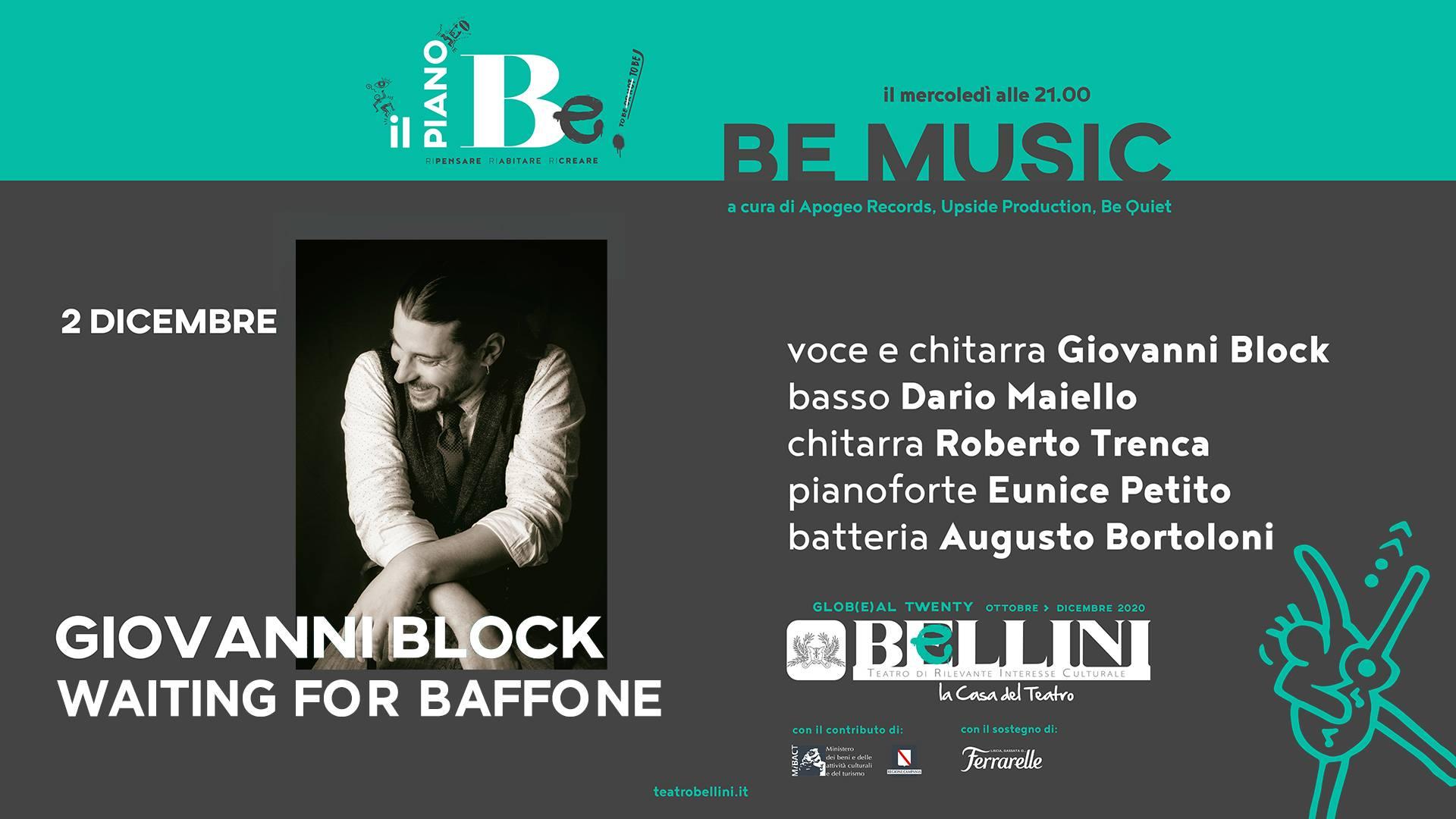 BeMusic - Piano BeAnticovid - Annullato causa Pandemia