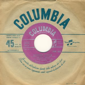 45 giri Columbia del 1956 con la splendida